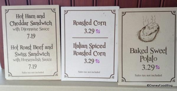 Roasted Corn sign