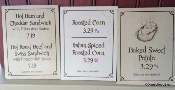 Roasted Corn sign