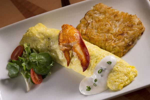 Butter Poached Lobster Omelet