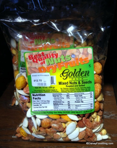 Packaged Mixed Nuts