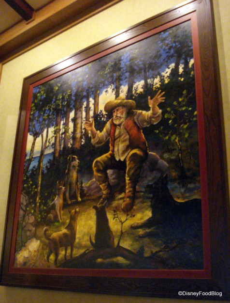 One of the Many Large Paintings in Storytellers Cafe
