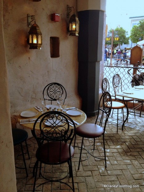 Table with a View of World Showcase