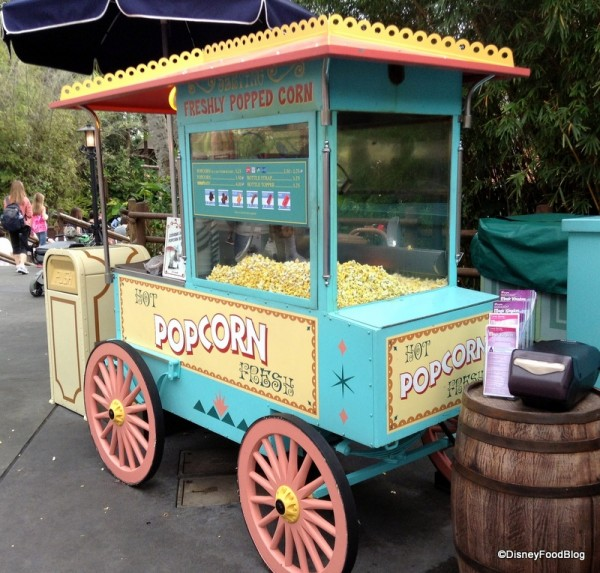 Adventureland Popcorn Cart in Magic Kingdom