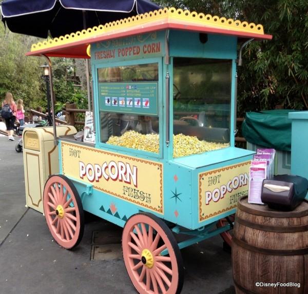 Adventureland Popcorn Cart in Magic Kingdom