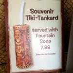 New! Souvenir Tiki-Tankard at Sunshine Tree Terrace in Disney World's Magic Kingdom