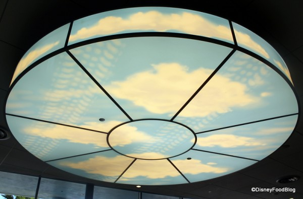 "Cloud Chandelier in the ""Cars"" section"