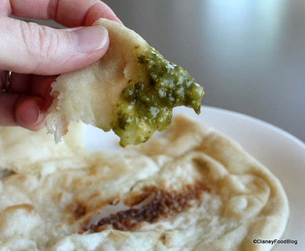 Coriander Dipping Sauce on Naan