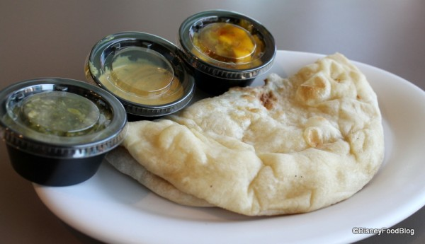 Naan with Dipping Sauce