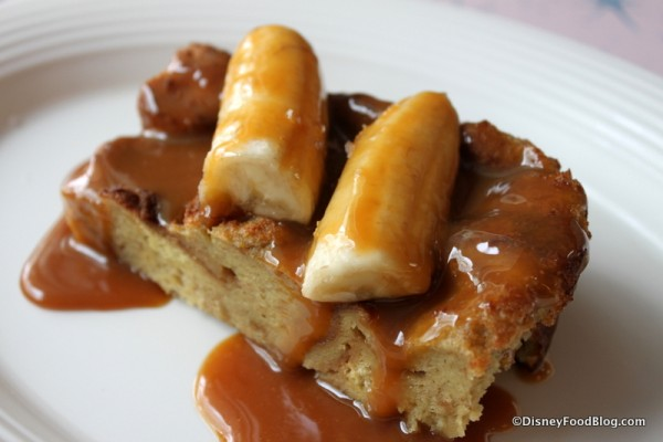 Brioche French Toast with Salted Caramel Sauce and Bananas  - Up Close