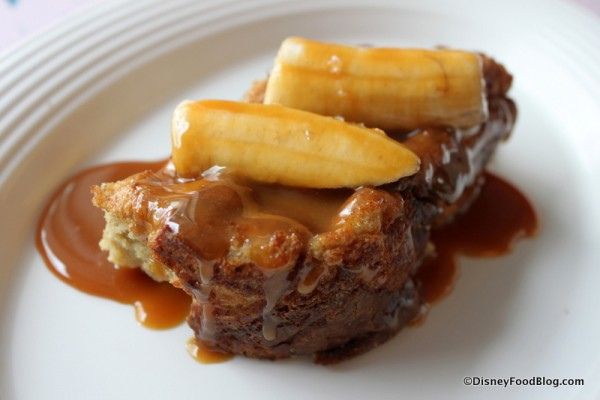 Brioche French Toast with  Salted Caramel Sauce and Bananas -- Another Angle
