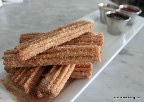 Churros with Dipping Sauces