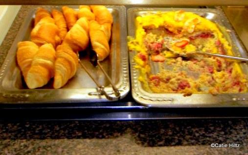 Flaky fresh croissants and Pooh's Breakfast Lasagna