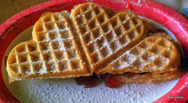 Heart-Shaped Waffle from Kringla Bakeri og Kafe in Epcot