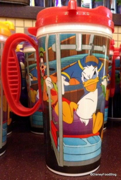Goofy and Donald on the opposite side