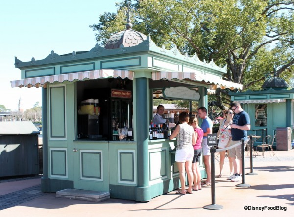 Champagne and Wine Kiosk in France Pavilion