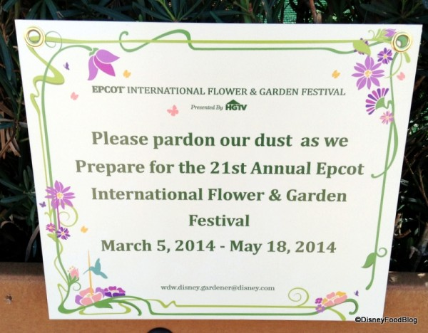 Getting ready for Flower & Garden Festival 2014