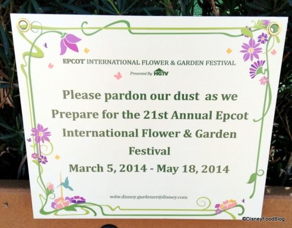 Getting ready for Flower & Garden Festival 2014