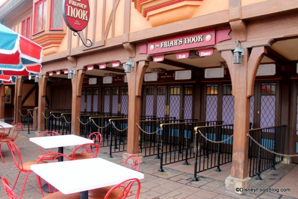 Seating at Friar's Nook