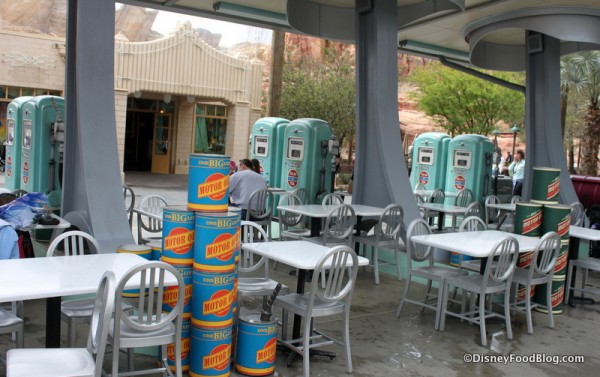 Motor Oil and Gas Pumps on the Patio