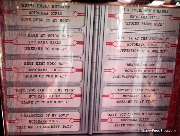 Jukebox Song Listing