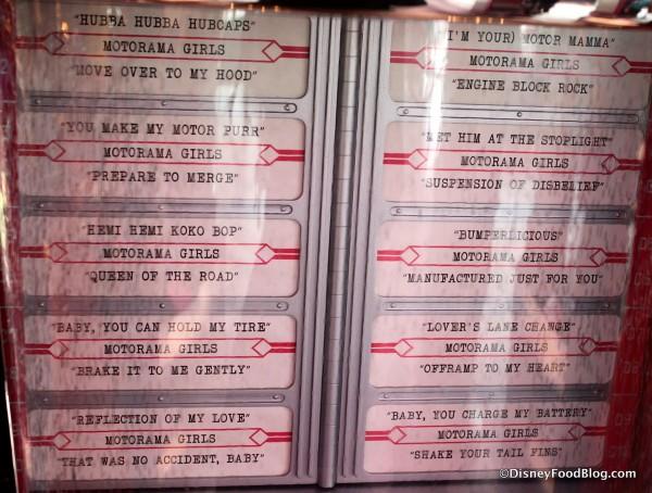 Jukebox Song Listing