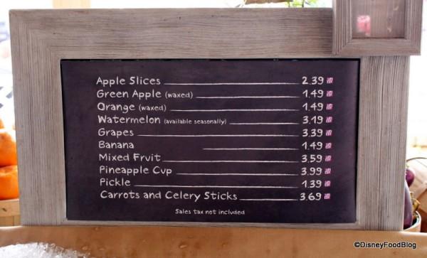 Whole fruit options