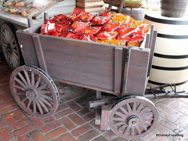 Cart full of chips