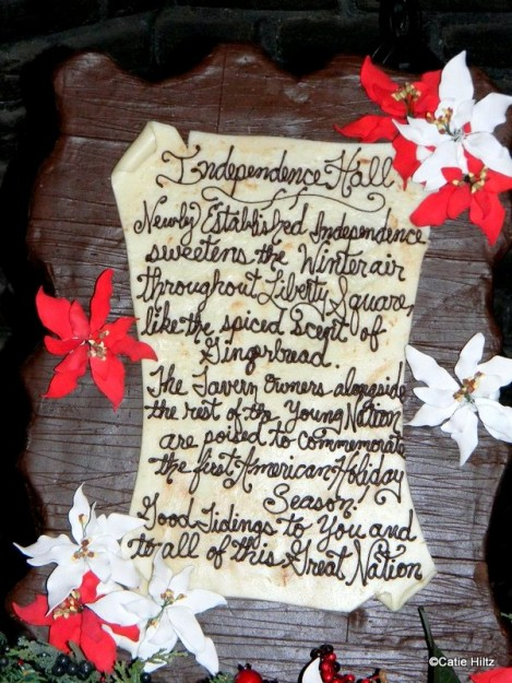 Holiday gingerbread display detail