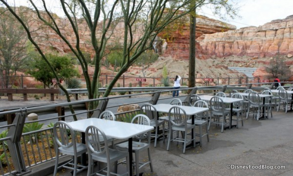 Outdoor Seating Overlooking Radiator Springs and the Desert