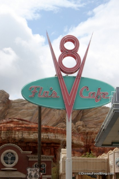 Flo's V-8 Cafe in Disney California Adventure's Cars Land