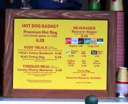 Pluto's Dog House Menu