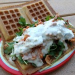 Review: Pulled Buffalo Chicken Waffle Sandwich at Animal Kingdom's Trilo-Bites
