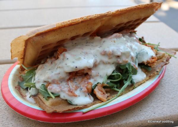 Original Pulled Buffalo Chicken Waffle Sandwich