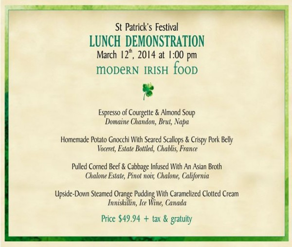 Raglan Road Lunch Information -- Click to Enlarge