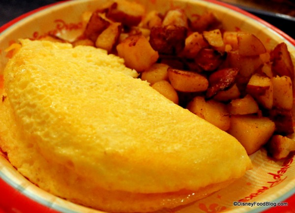Fluffy cheese omelet