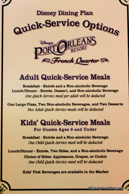 Use your Disney Dining Plan credits