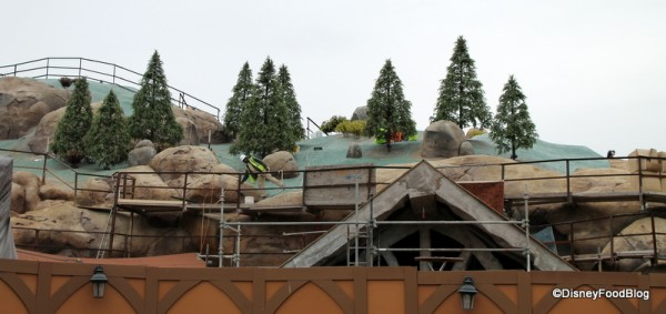 Seven Dwarfs Mine Train construction