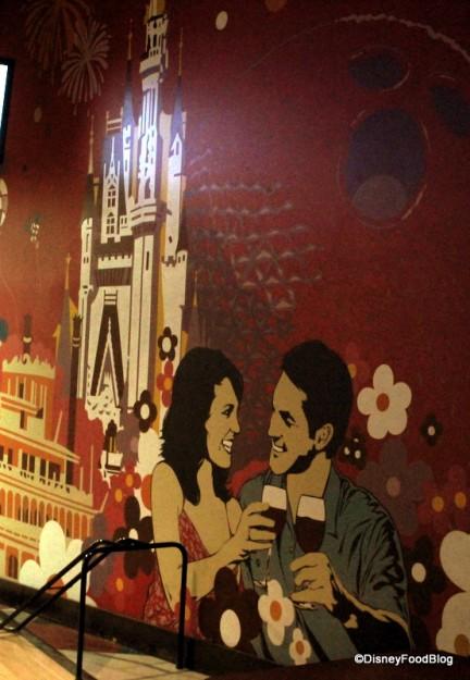 Retro Disney wall mural