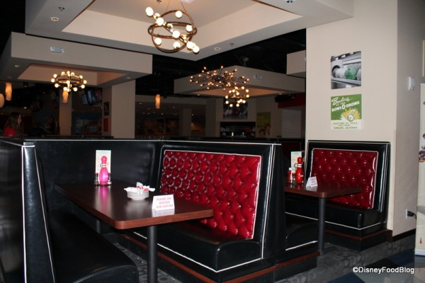 Upstairs Booths at Splitsville