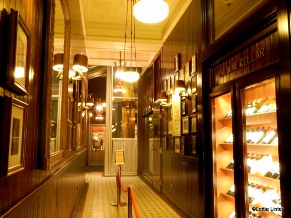 The entrance corridor, taken from the bar