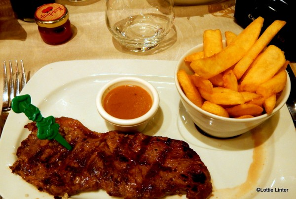 Grilled Sirloin steak, slightly too chewy