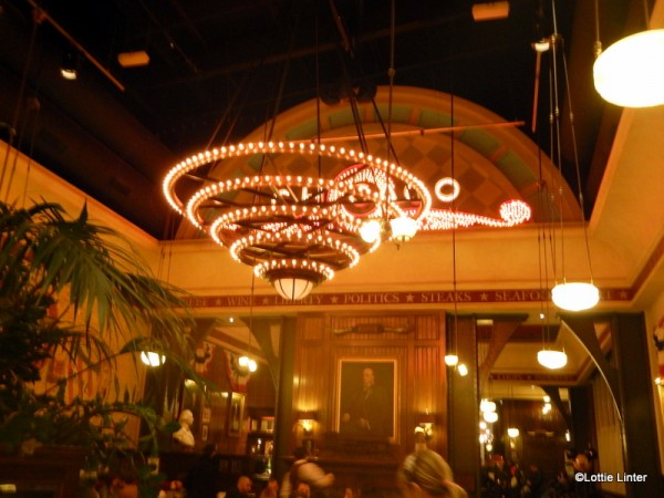 Cool light fixtures in the main dining room