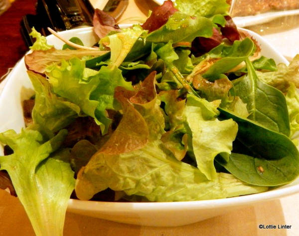 Side salad, served with steak dishes