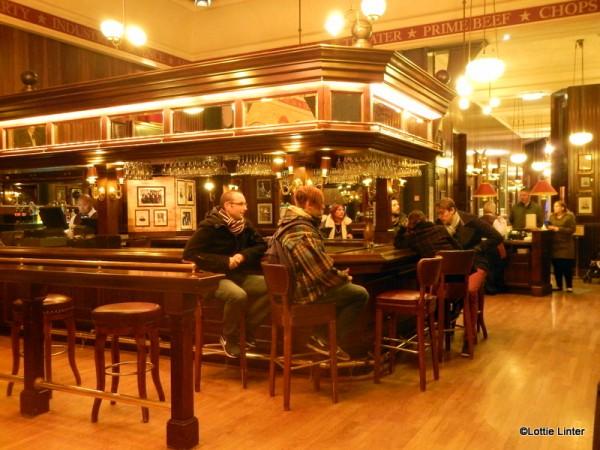 The spacious bar area