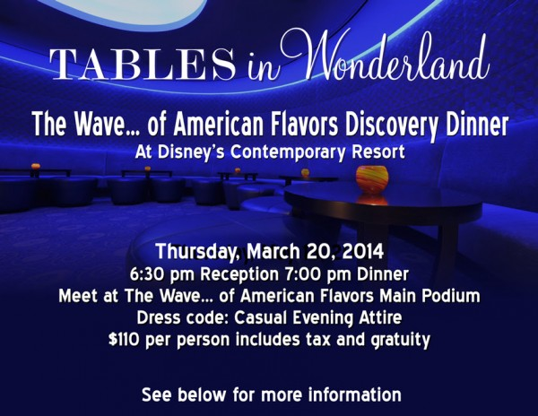 Discovery Dinner Details - click image for larger version