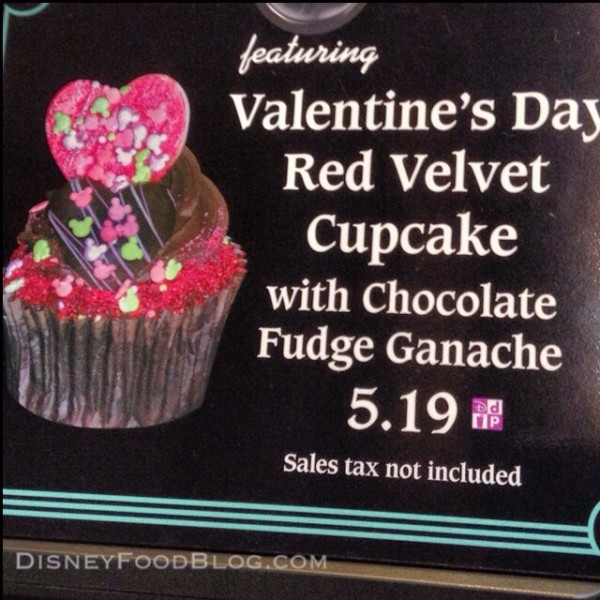 Valentine's Day cupcake in Disney's Hollywood Studios