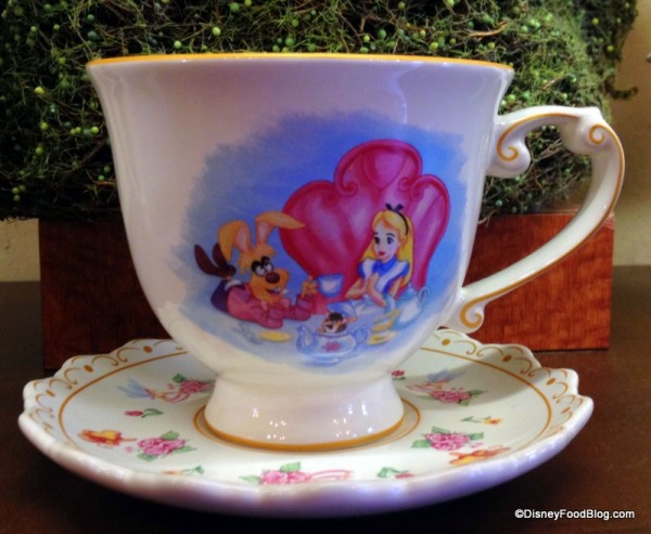 Alice in Wonderland Teacup and Saucer Tea Caddy