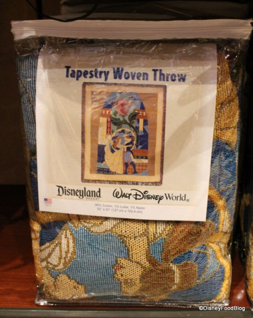 Beauty and the Beast Tapestry Throw