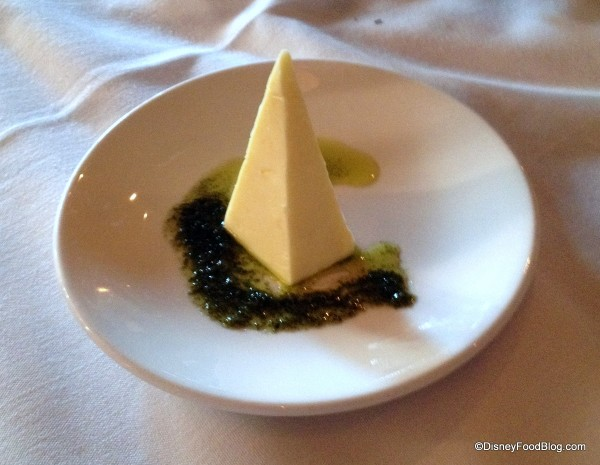 Butter with Basil Oil