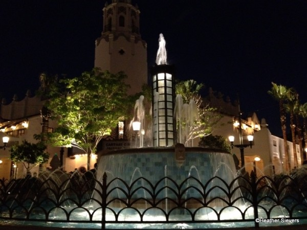Carthay Fountain at Night